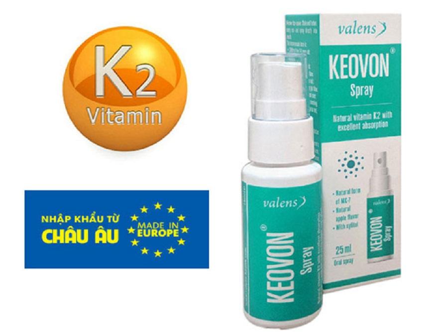 Keovon vitamin K2-MK7 dạng xịt vô cùng tiện dụng, mỗi một nhát xịt đã chứa 18,75mcg vitamin K2-MK7 theo đúng chuẩn khuyến cáo. Sản phẩm nhập khẩu trực tiếp từ Châu Âu