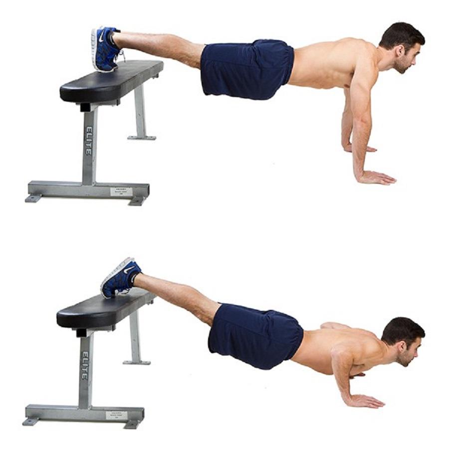 Bài tập chống đẩy chân trên ghế giúp các bạn nam tăng chiều cao và sức khỏe
