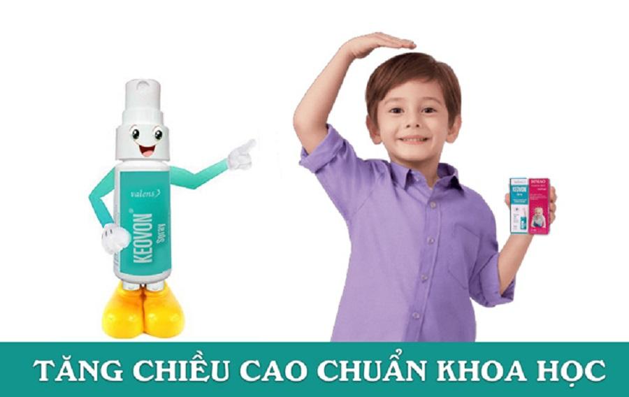 bổ sung vitamin K2 từ Keovon vitamin K2 dạng xịt để tăng chiều cao chuẩn khoa học