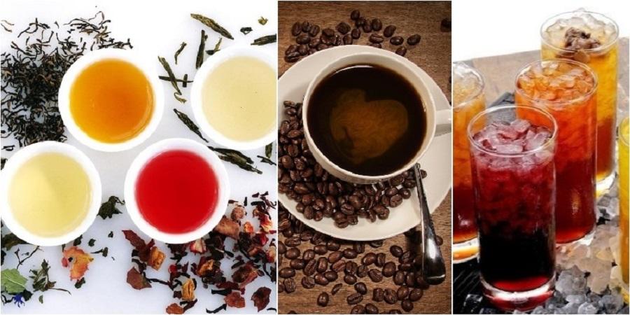 hạn chế uống trà, cà phê và nước ngọt