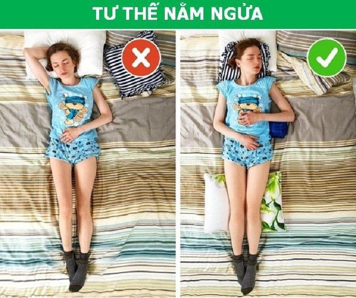 Nằm ngửa tư thế nằm ngủ đúng cách tăng chiều cao tốt nhất cho trẻ