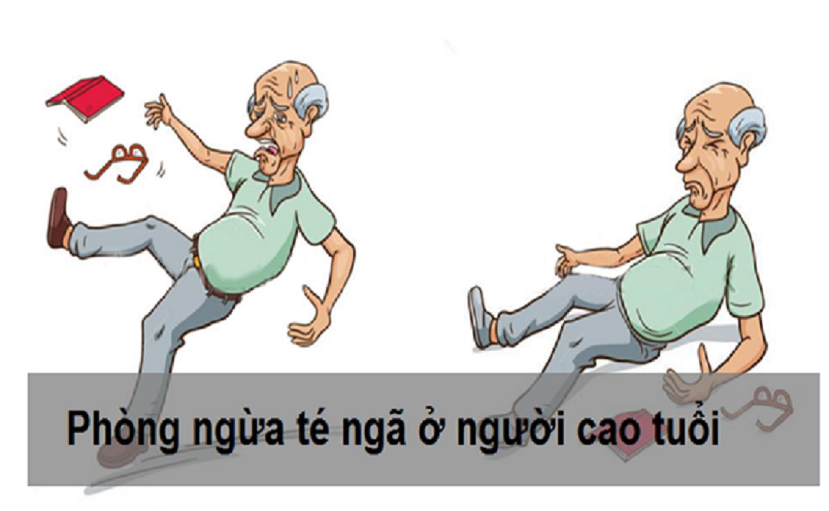 té ngã ở người cao tuổi chiếm tỷ lệ lớn