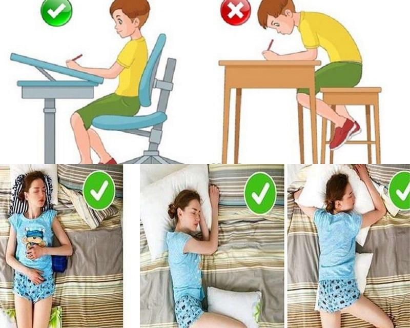 Sửa đổi tư thế ngồi, đi đứng, ngủ sẽ giúp trẻ tăng chiều cao hiệu quả hơn
