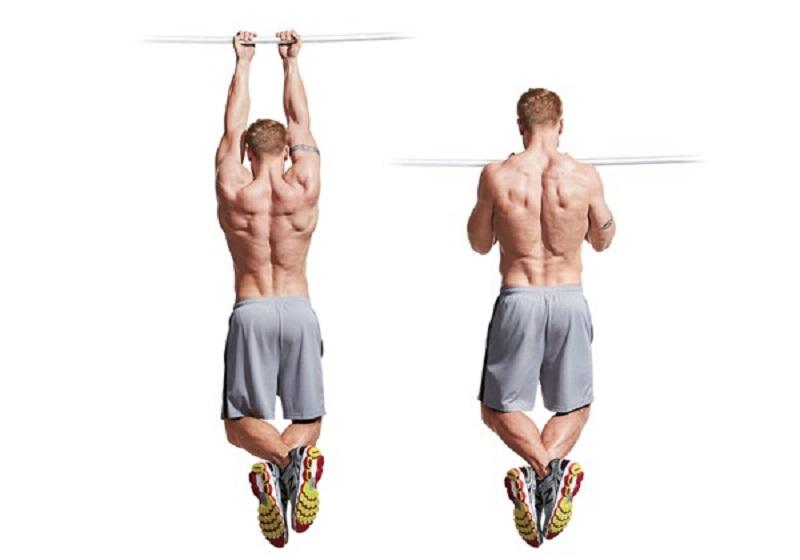 Hít xà đơn giúp kéo giãn cột sống, giảm sự kéo lên các xương sống có thể giúp bạn tăng chiều cao từ 2-4cm.