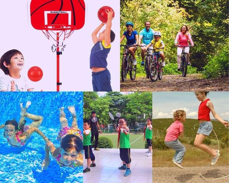 Tập luyện thể thao giúp tăng chiều cao hiệu quả cho trẻ