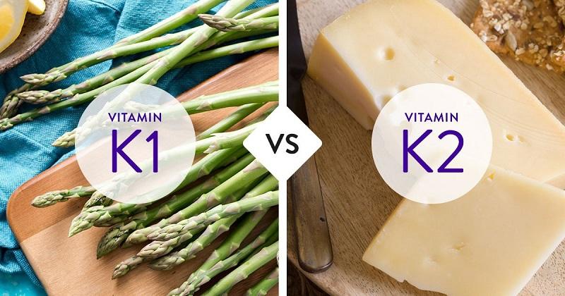 vitamin K có hai dạng vitamin K1 và vitamin K2