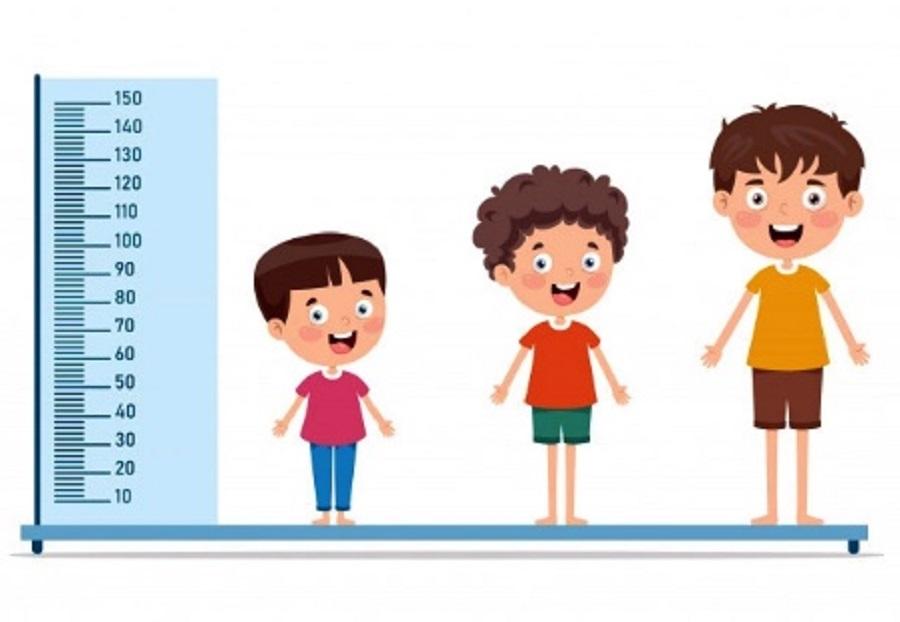 trẻ em có 3 giai đoạn vàng tăng trưởng chiều cao