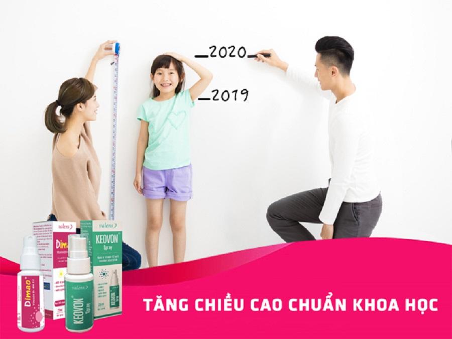 Dimao vitamin D3 và Keovon vitamin K2 hỗ trợ tăng chiều cao vượt trội, giúp trẻ có chiều cao mơ ước