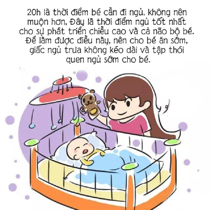 Tạo thói quen đi ngủ sớm dậy sớm cho trẻ. Bố trí không gian phòng thoáng đãng, yên tĩnh, thoải mái để trẻ có giấc ngủ ngon