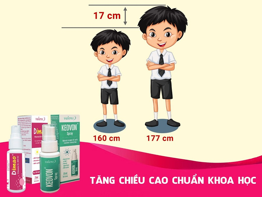 tăng chiều cao chuẩn khoa học bằng cách bổ sung vitamin d3 và vitamin k2