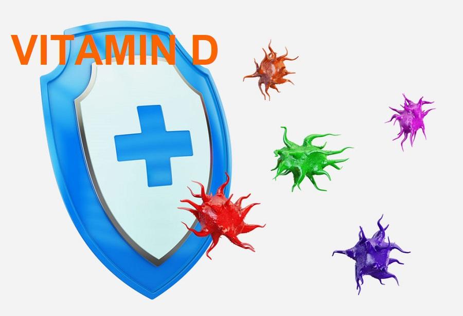 vitamin D thúc đẩy cả miễn dịch bẩm sinh và miễn dịch thu được, tăng đề kháng cho cơ thể