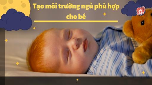 Môi trường ngủ yên tĩnh sẽ giúp bé ngủ ngon, sâu giấc